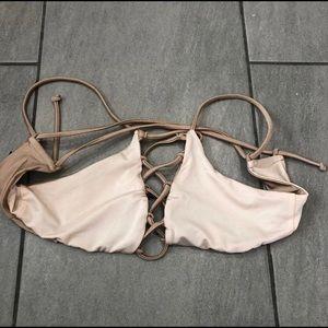 La Hearts Bikini Top Reversible Rose Gold